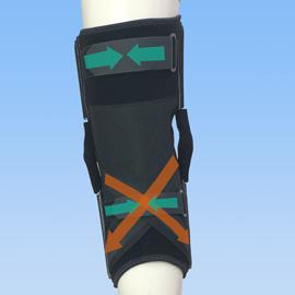 スポーツで安心感がある後十字靭帯損傷膝サポーター|ニーケアー・PCL(背面)