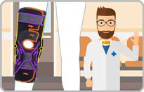 靱帯損傷の膝サポーター|エクスエイドニーACL