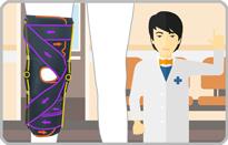 靱帯損傷の膝サポーター|エクスエイドニーMCL&LCL